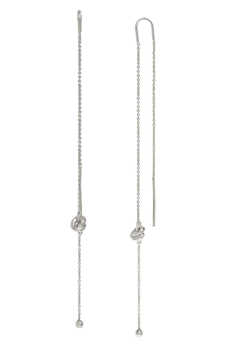 ALLSAINTS Knot Chain Threader Earrings, Main, color, 040