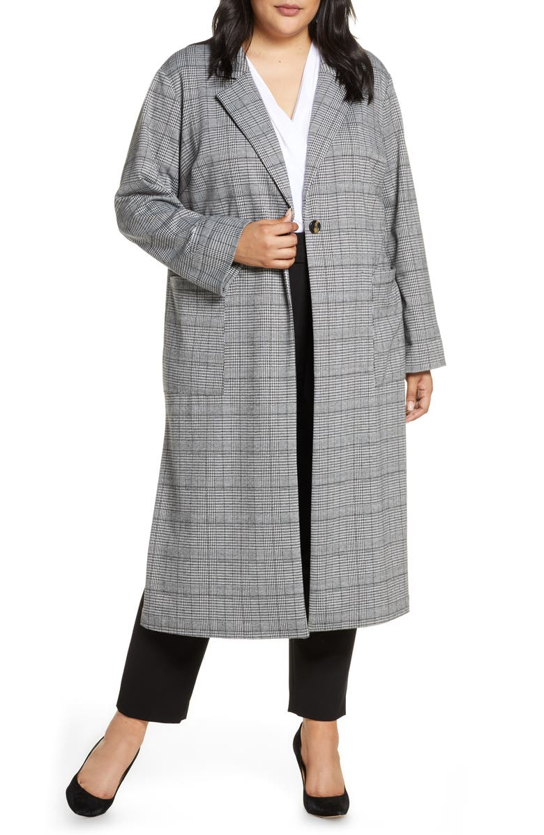SANCTUARY Timeless Plaid Duster Jacket, Main, color, CLASSIC CHECK