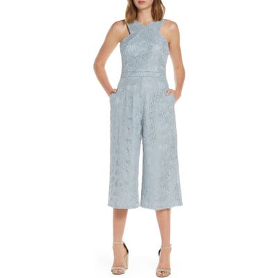 Adelyn Rae Carissa Lace Crop Jumpsuit