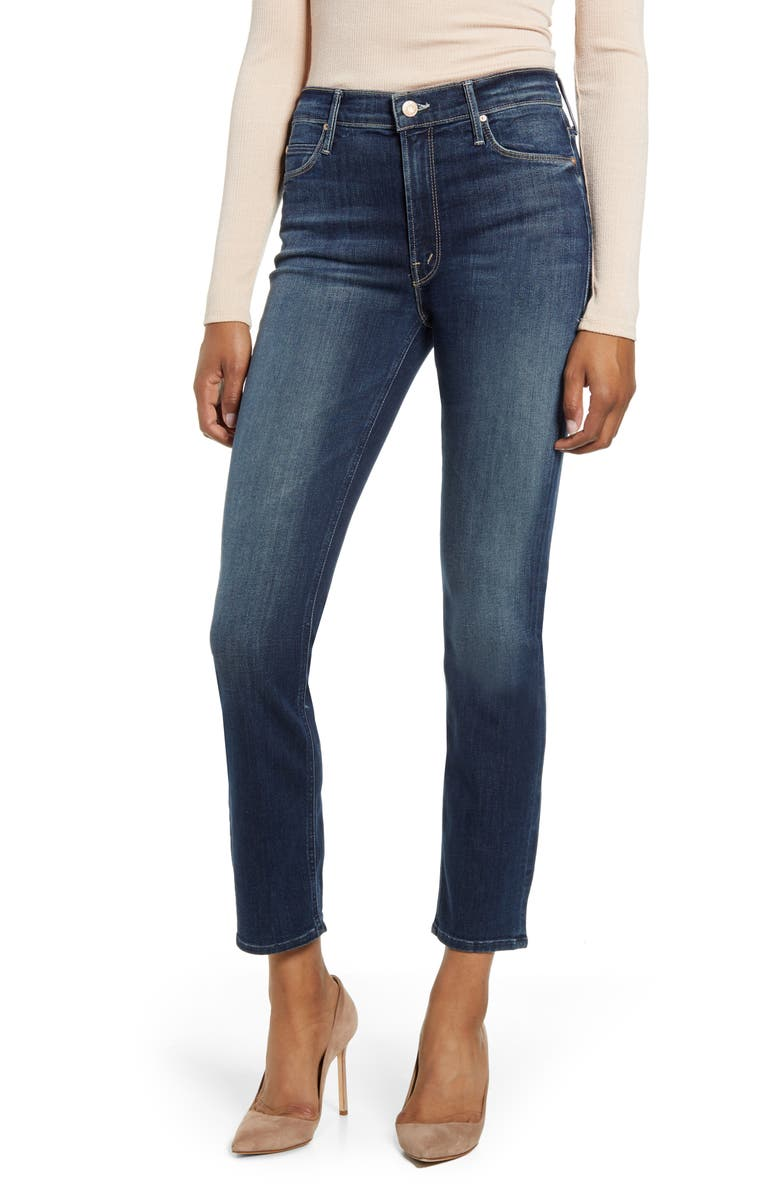 MOTHER The Dazzler Ankle Straight Leg Jeans, Main, color, ON THE EDGE