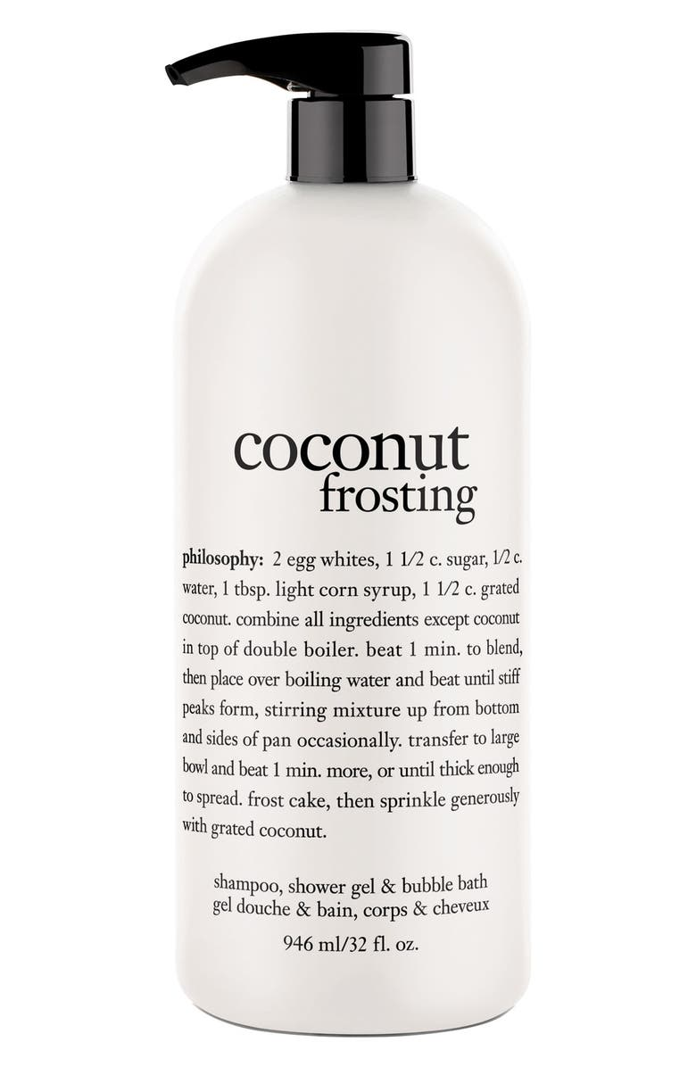 PHILOSOPHY 'coconut frosting' shampoo, shower gel & bubble bath, Main, color, 000