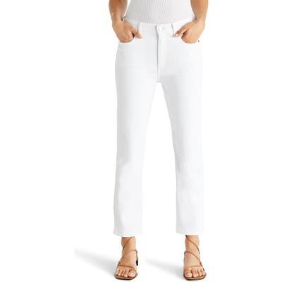 Etica Finn High Waist Ankle Straight Leg Jeans, White
