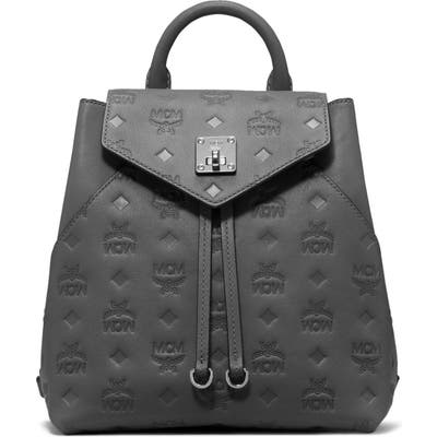 Mcm Essential Monogram Leather Small Backpack -