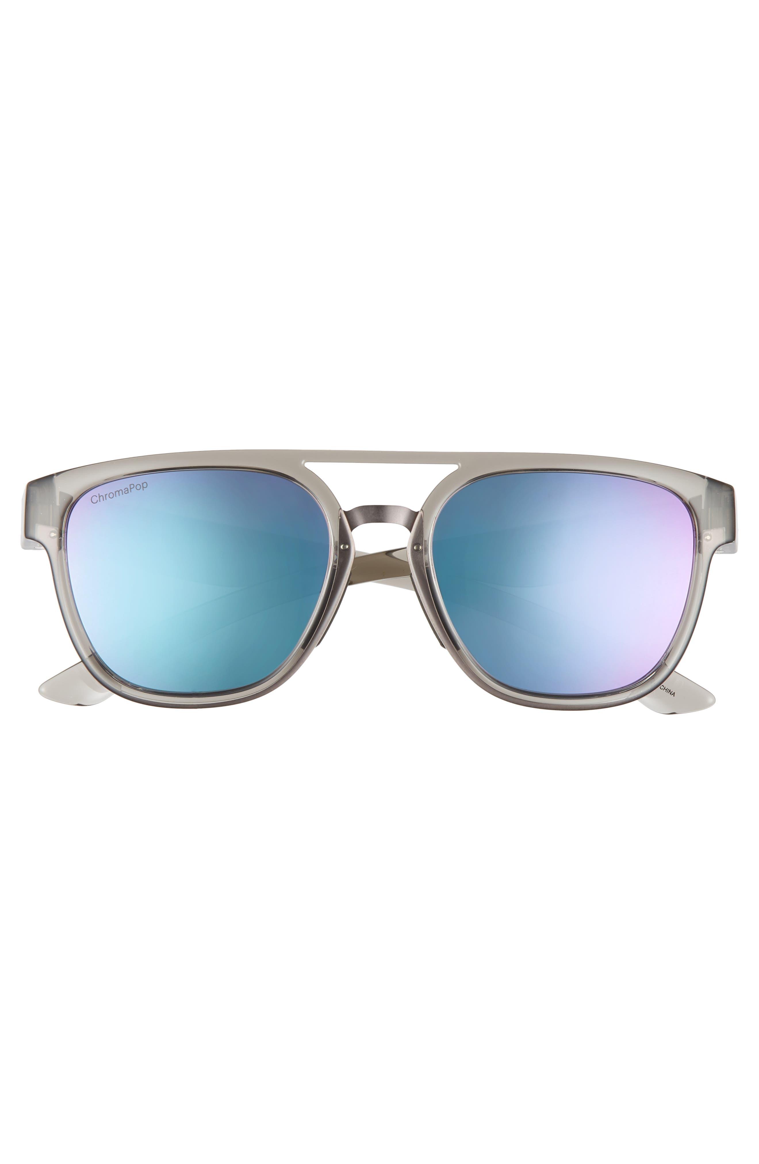 ,                             Agency 54mm ChromaPop<sup>™</sup> Mirrored Sunglasses,                             Alternate thumbnail 3, color,                             GREY CLOUD/ PURPLE