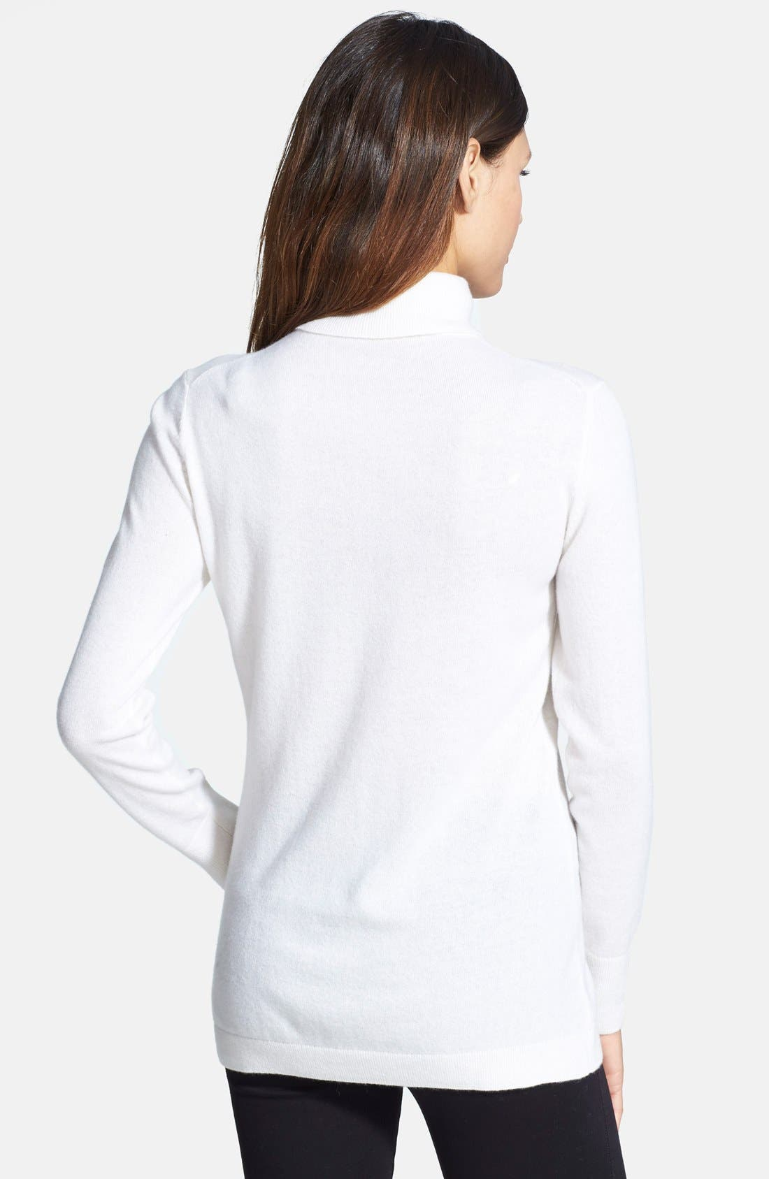 ,                             Long Cashmere Turtleneck Sweater,                             Alternate thumbnail 48, color,                             900