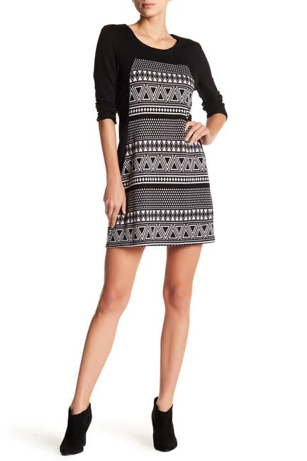 Image of Papillon Perforated Knit Sweater Dress