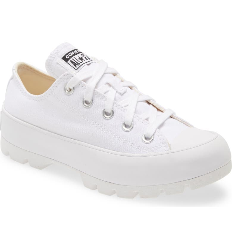 CONVERSE Chuck Taylor<sup>®</sup> All Star<sup>®</sup> Lugged Low Top Sneaker, Main, color, WHITE/ WHITE/ WHITE