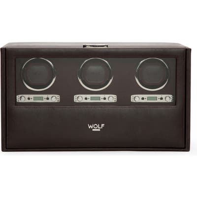 Wolf Blake Triple Watch Winder Box - Brown