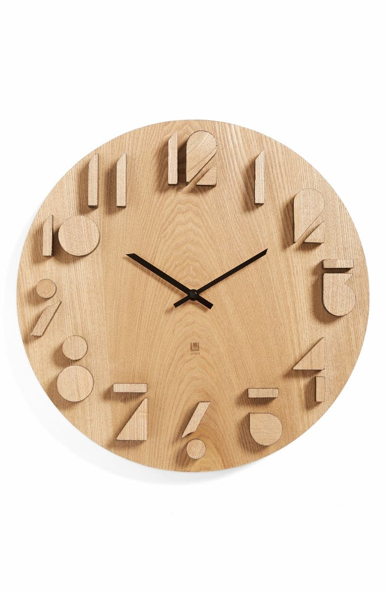 Umbra Shadow Wall Clock White