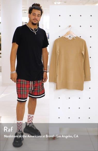 Crewneck Cashmere Tunic Sweater, sales video thumbnail