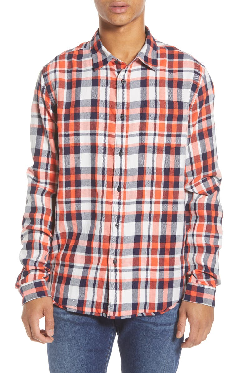 SCOTCH & SODA Plaid Button-Up Flannel Shirt, Main, color, 600