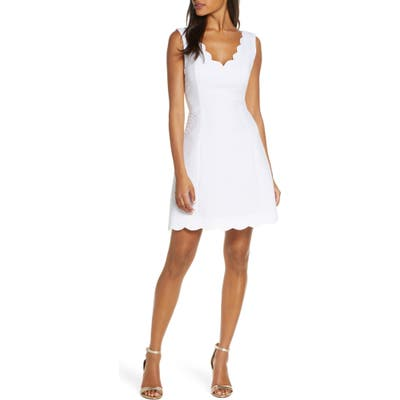 Lilly Pulitzer Sabeen Stretch Jacquard Fit & Flare Dress, White