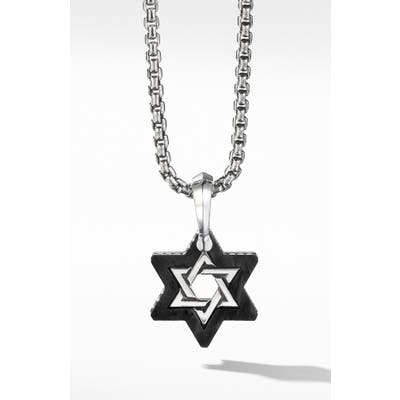 David Yurman Forged Carbon Star Of David Amulet