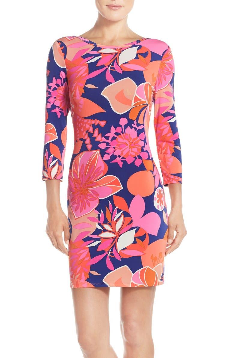 TRINA TURK trina Trina Turk 'Tina' Reversible Floral Jersey Body-Con Dress, Main, color, 661