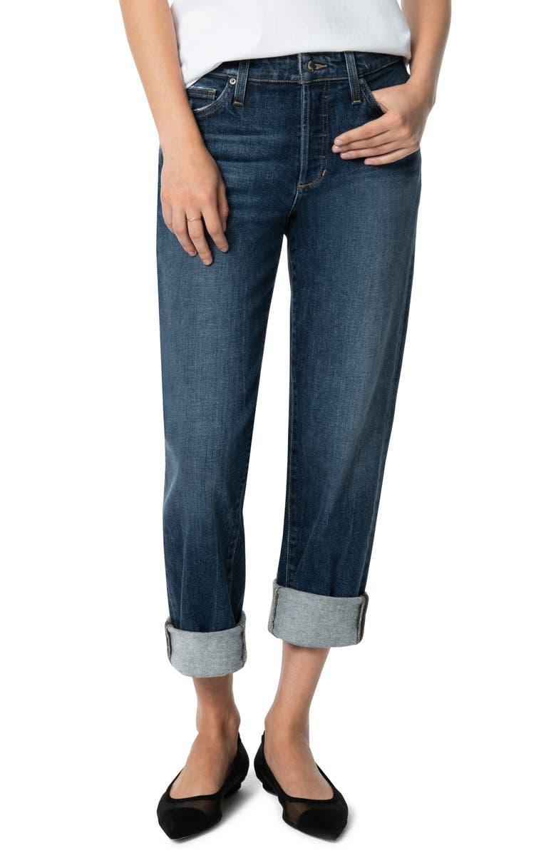 online here website for discount most popular Niki Raw Cuff Boyfriend Jeans