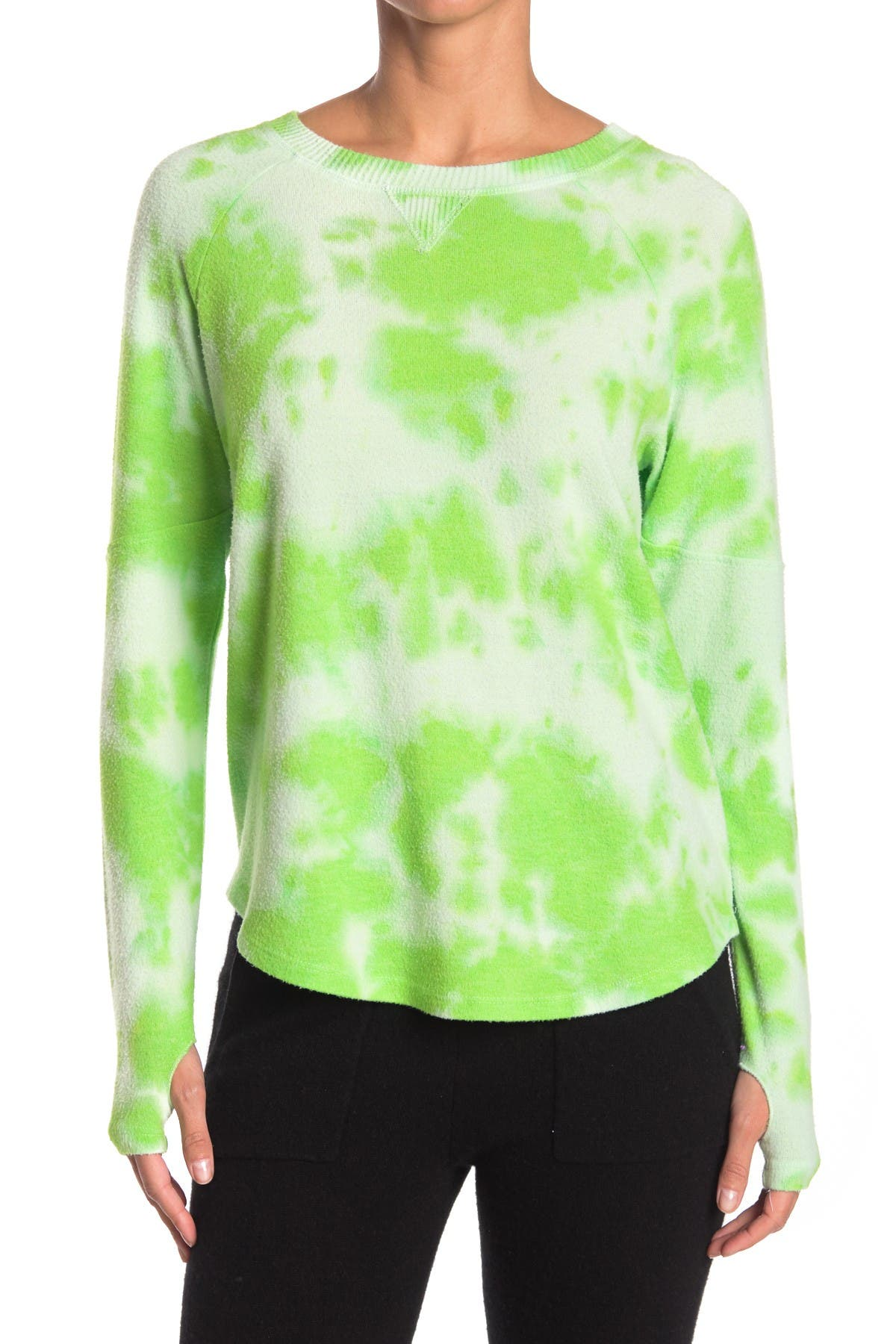 Image of Theo and Spence Thumbhole Tie-Dye Pullover Sweater