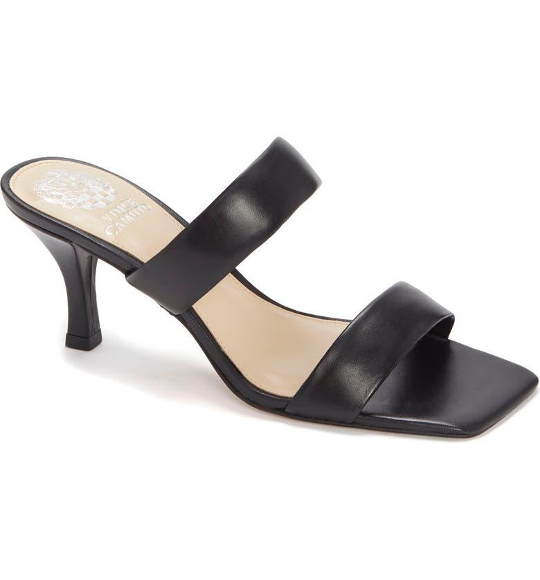 VINCE CAMUTO Aslee Two Strap Slide Sandal, Main, color, BLACK
