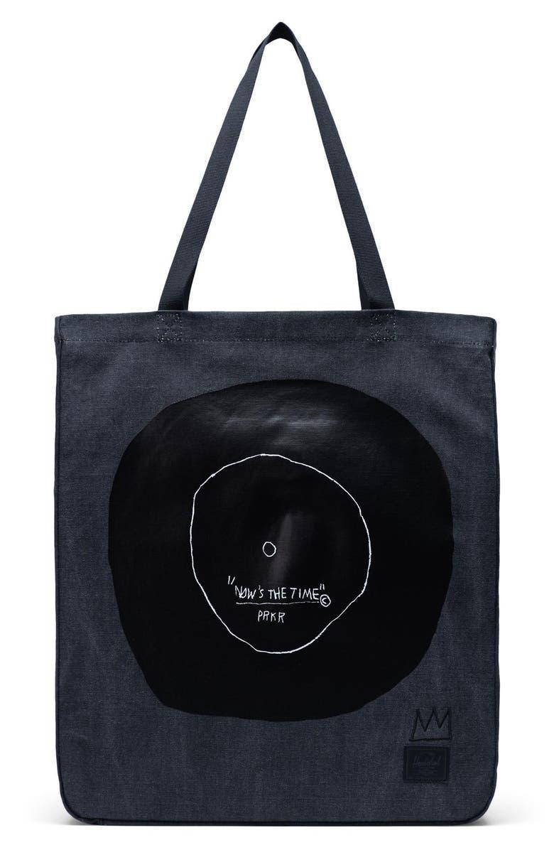 HERSCHEL SUPPLY CO. Herschel Basquiat Tote Bag, Main, color, BLACK