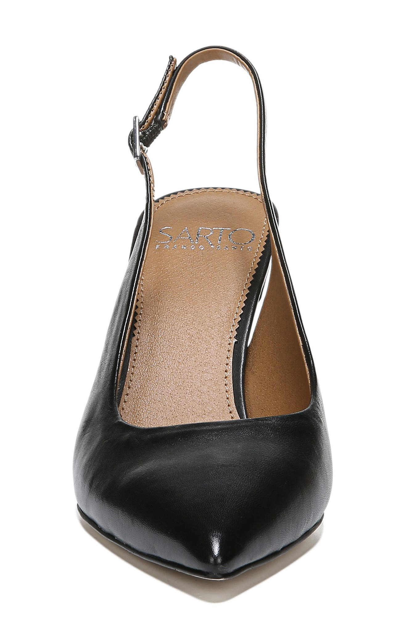 ,                             Sophie Pointy Toe Slingback Pump,                             Alternate thumbnail 4, color,                             BLACK PATENT LEATHER