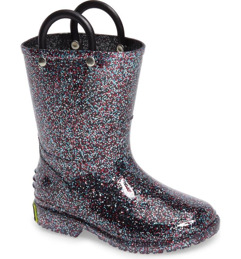 WESTERN CHIEF Glitter Waterproof Rain Boot, Main, color, 500
