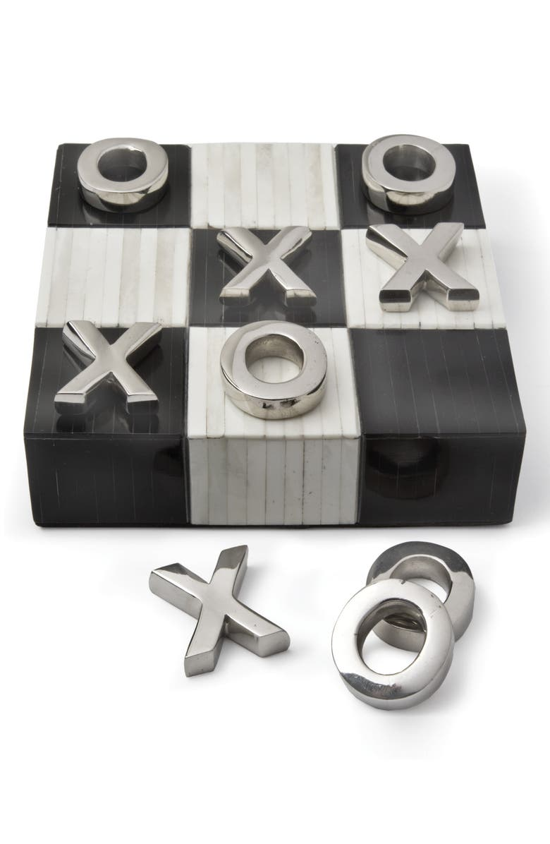 REGINA ANDREW Design Tic Tac Toe Game, Main, color, BLACK AND WHITE