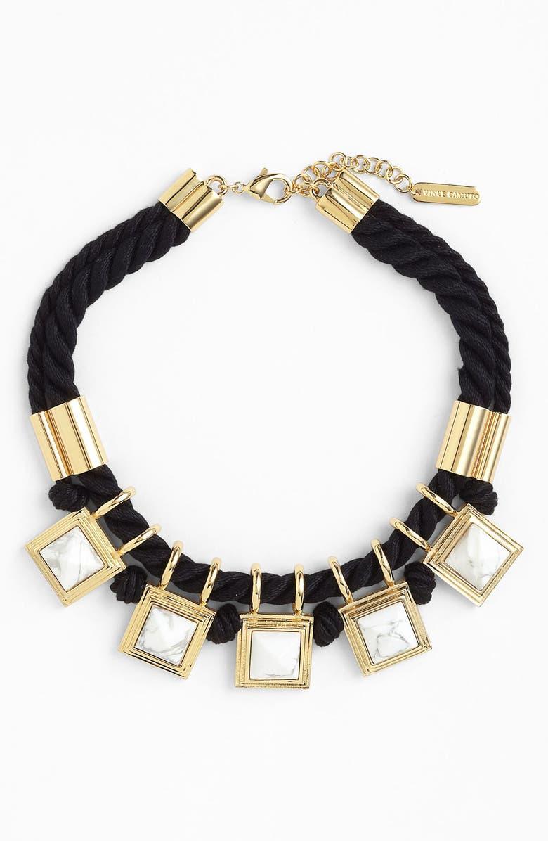VINCE CAMUTO 'Pyramid Rocks' Collar Necklace, Main, color, 100