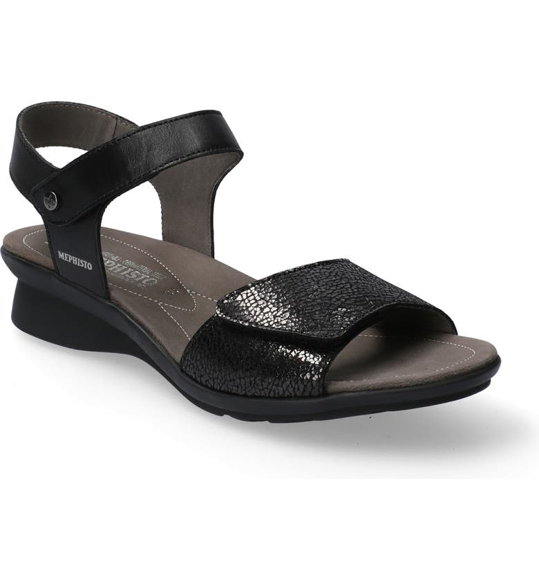 MEPHISTO Pattie Sandal, Main, color, BLACK SMOOTH LEATHER