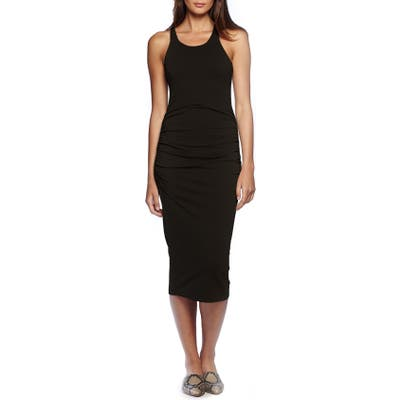 Petite Michael Stars Racerback Midi Dress, Black