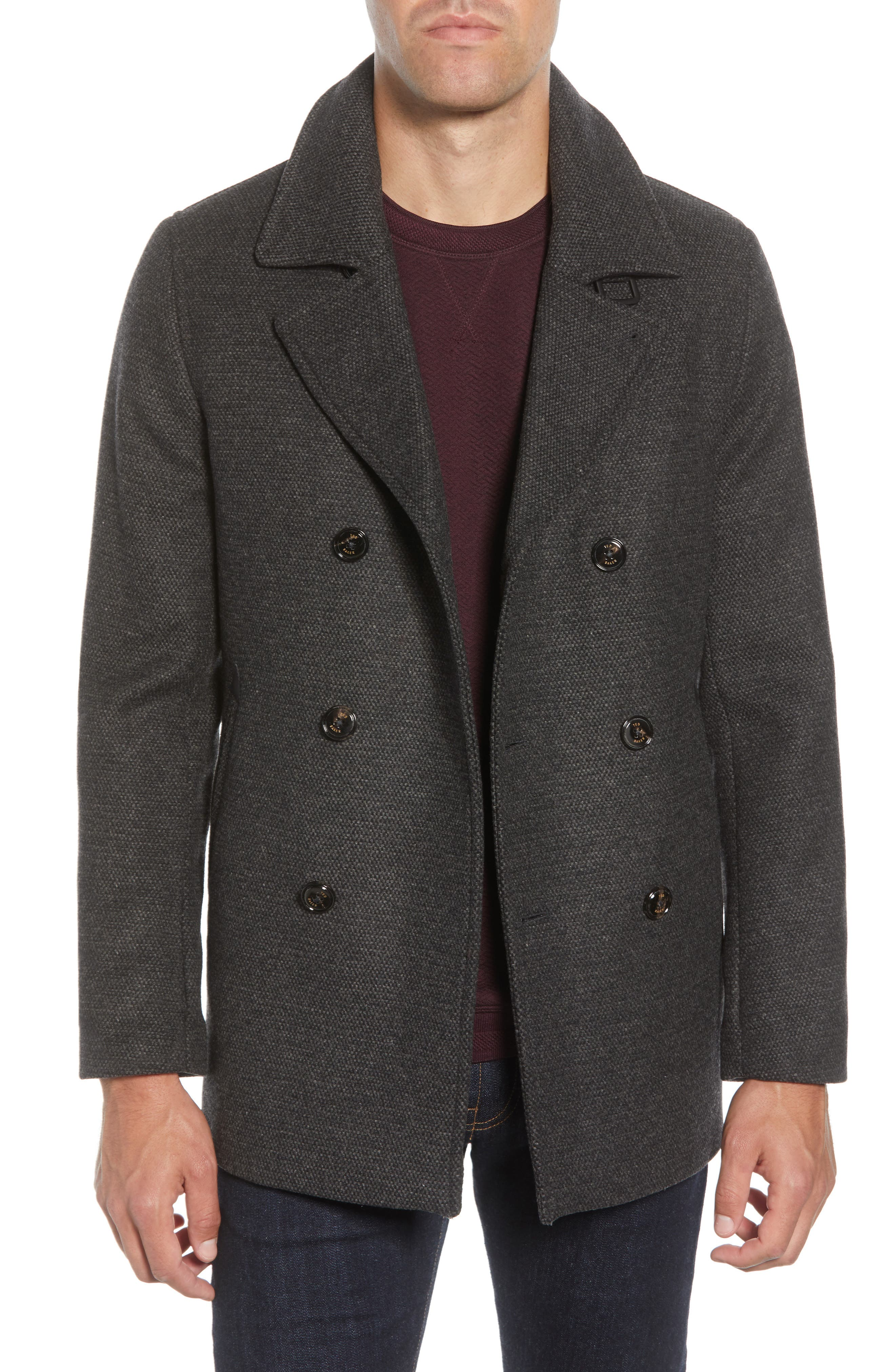 Image of Ted Baker London Westun Double Breasted Peacoat