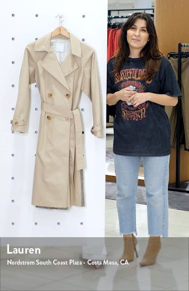 Victory Plaid Back Cotton Trench Coat, sales video thumbnail