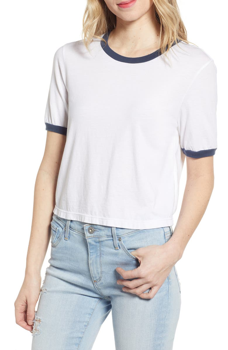 AG Coney Ringer Crop Tee, Main, color, 143