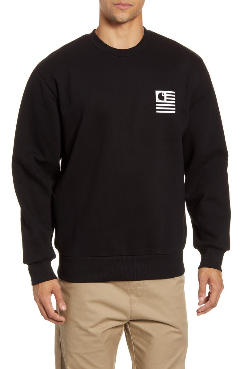 CARHARTT WORK IN PROGRESS Incognito Crewneck Sweatshirt, Main, color, 001