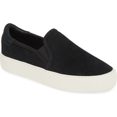 Ugg Abies Perforated Slip-On Platform Sneaker, Black