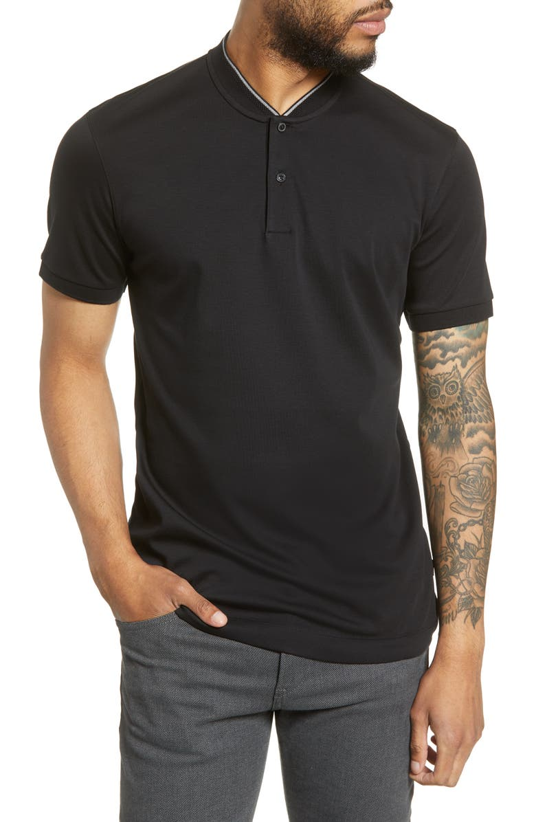 BOSS Pratt Regular Fit Solid Henley, Main, color, 001