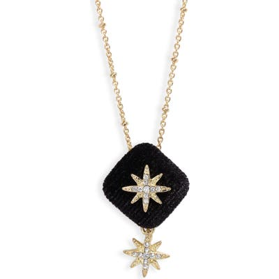 Stella + Ruby Star Pendant Necklace