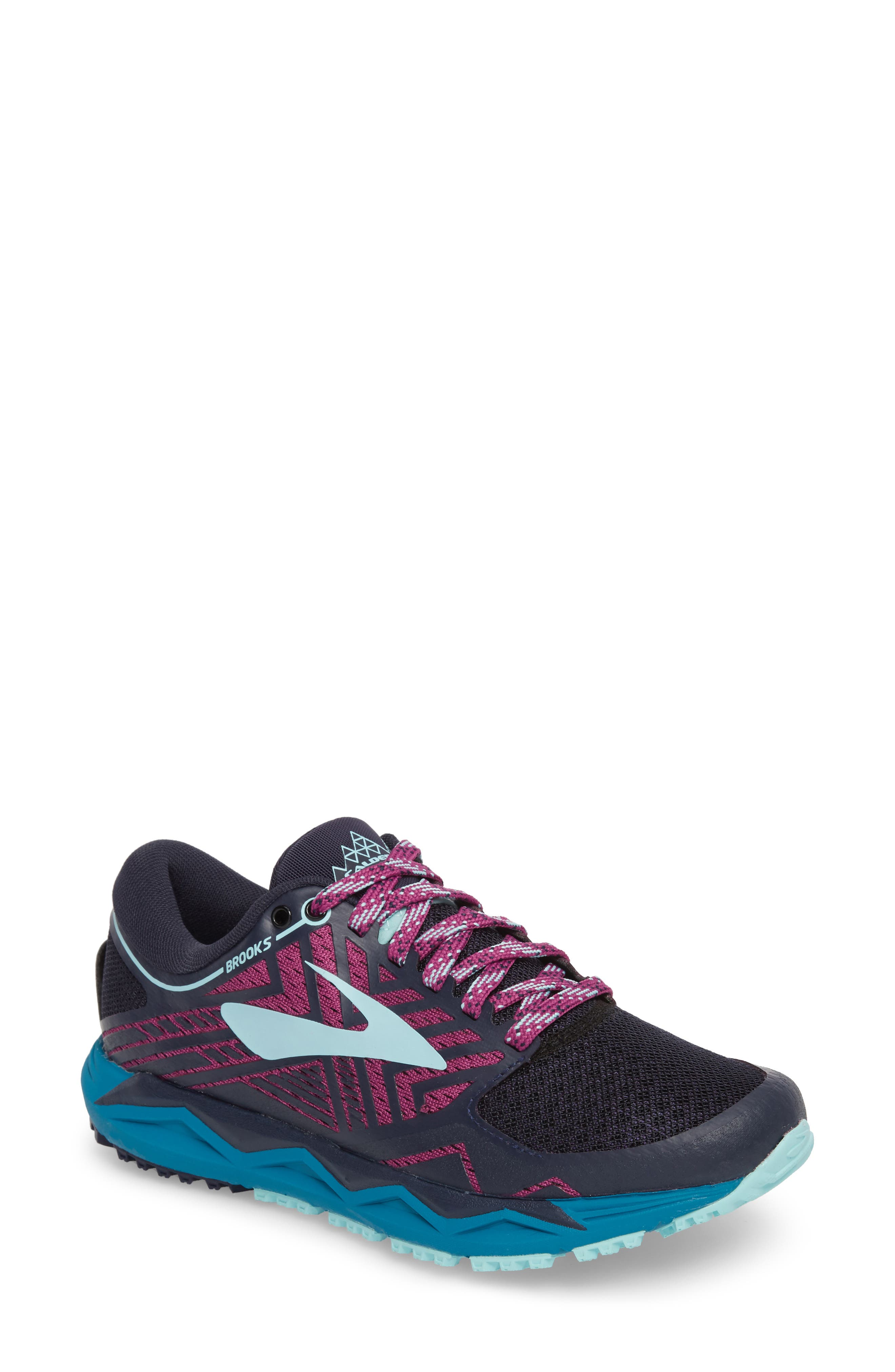 Caldera 2 Trail Running Shoe, Main, color, NAVY/ PLUM/ ICE BLUE