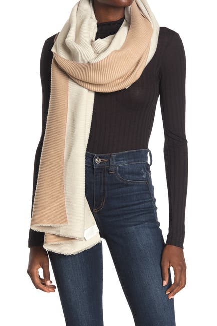 Image of 14th & Union Pleated Double Sided Scarf