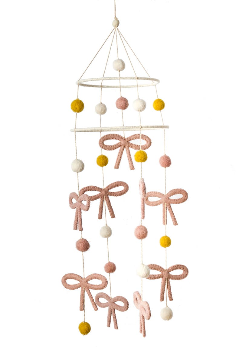 PEHR Jolie Bow Mobile, Main, color, PINK