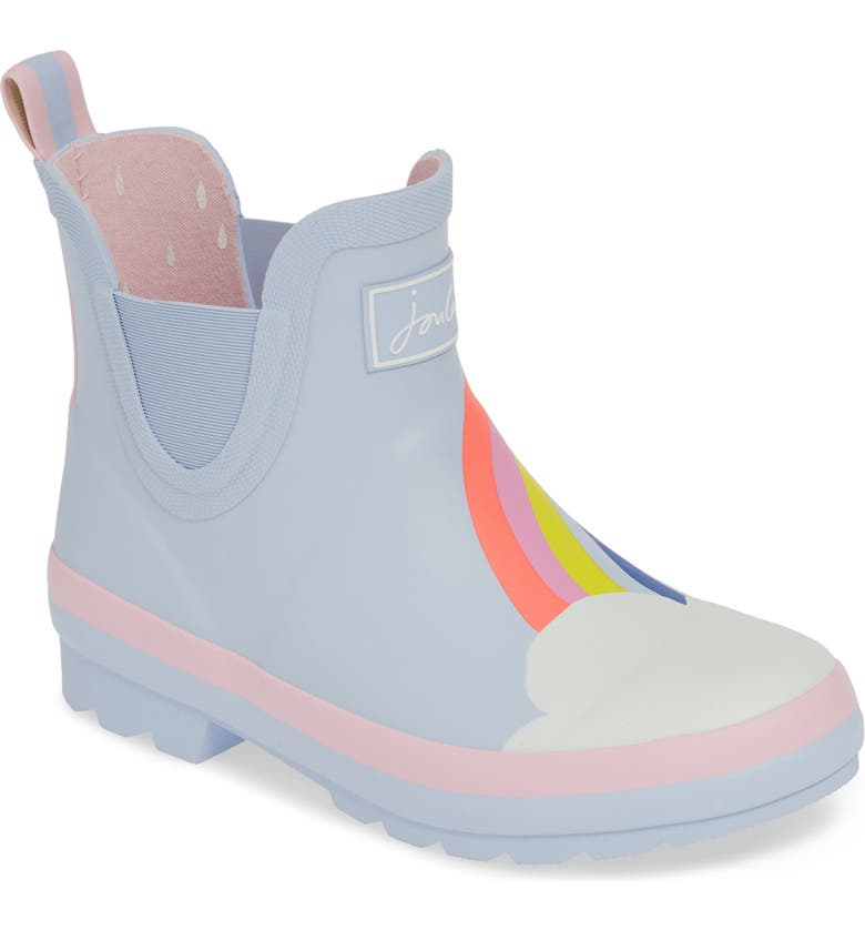 JOULES Wellibob Waterproof Chelsea Rain Boot, Main, color, BLUE RAINBOW
