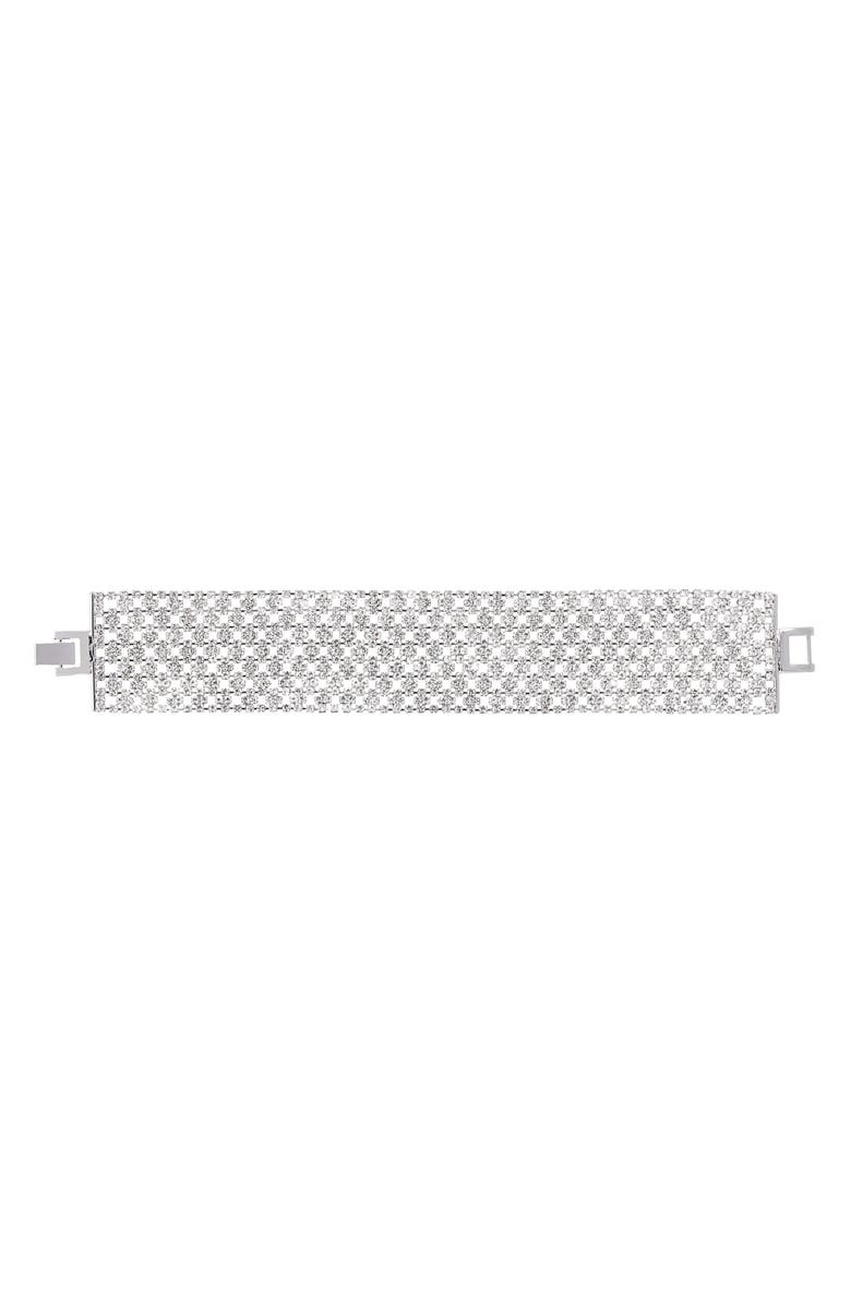 NINA Cubic Zirconia Mesh Bracelet, Main, color, 040