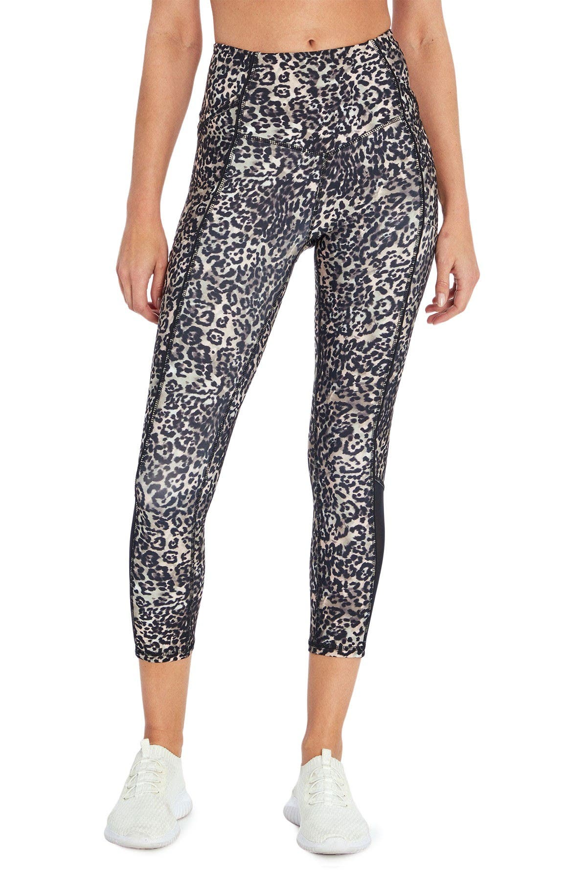 Image of Jessica Simpson Ace Printed High Waisted Capri Leggings