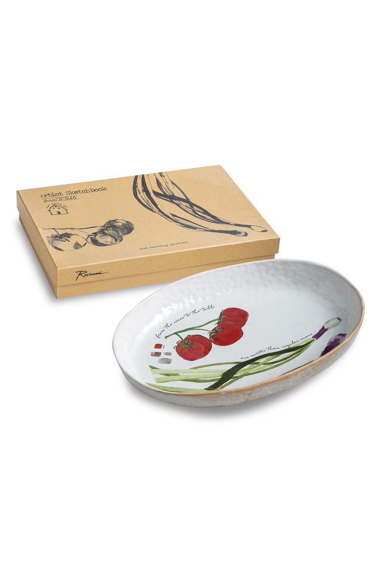ROSANNA Spring Onion Oval Platter, Main, color, BEIGE/MULTICOLOR
