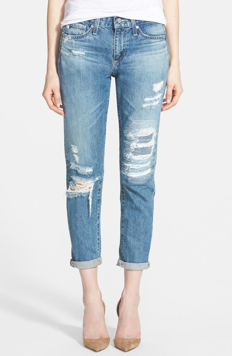 AG 'The Beau' Skinny Boyfriend Jeans, Main, color, 20 YEAR YONDER