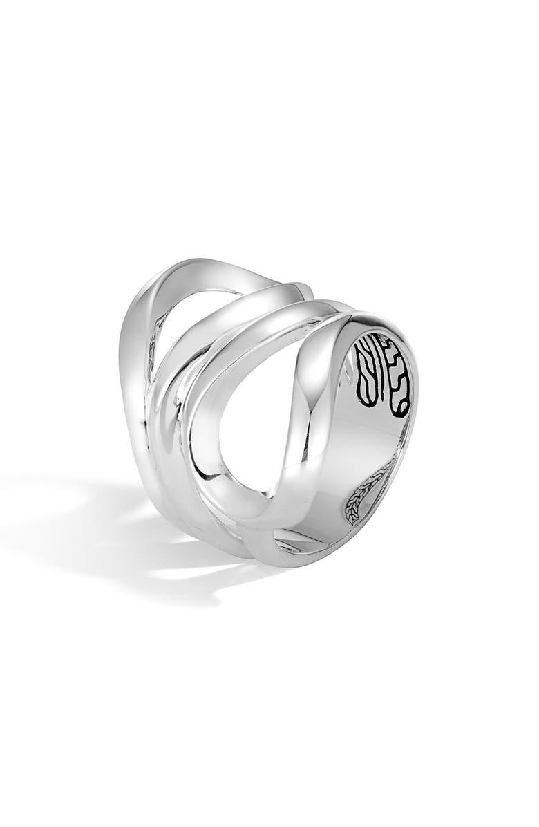 JOHN HARDY Asli Classic Chain Link Ring, Main, color, SILVER