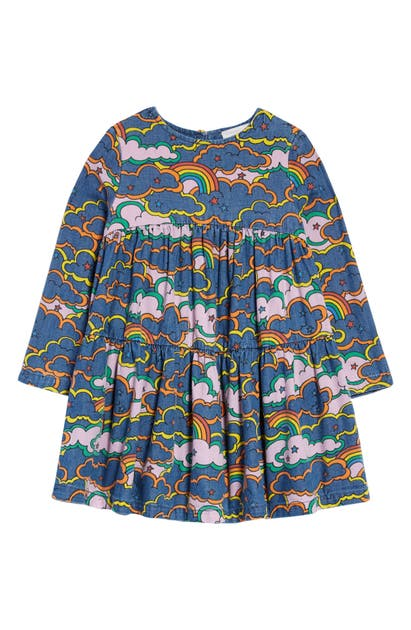 STELLA MCCARTNEY KIDS' CLOUDS LONG SLEEVE DENIM DRESS