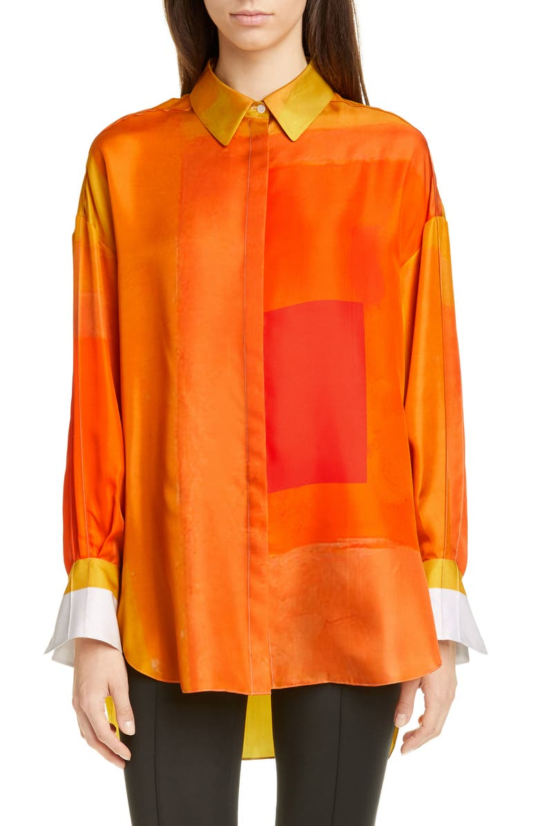 PARTOW Hugo Silk Shirt, Main, color, 800