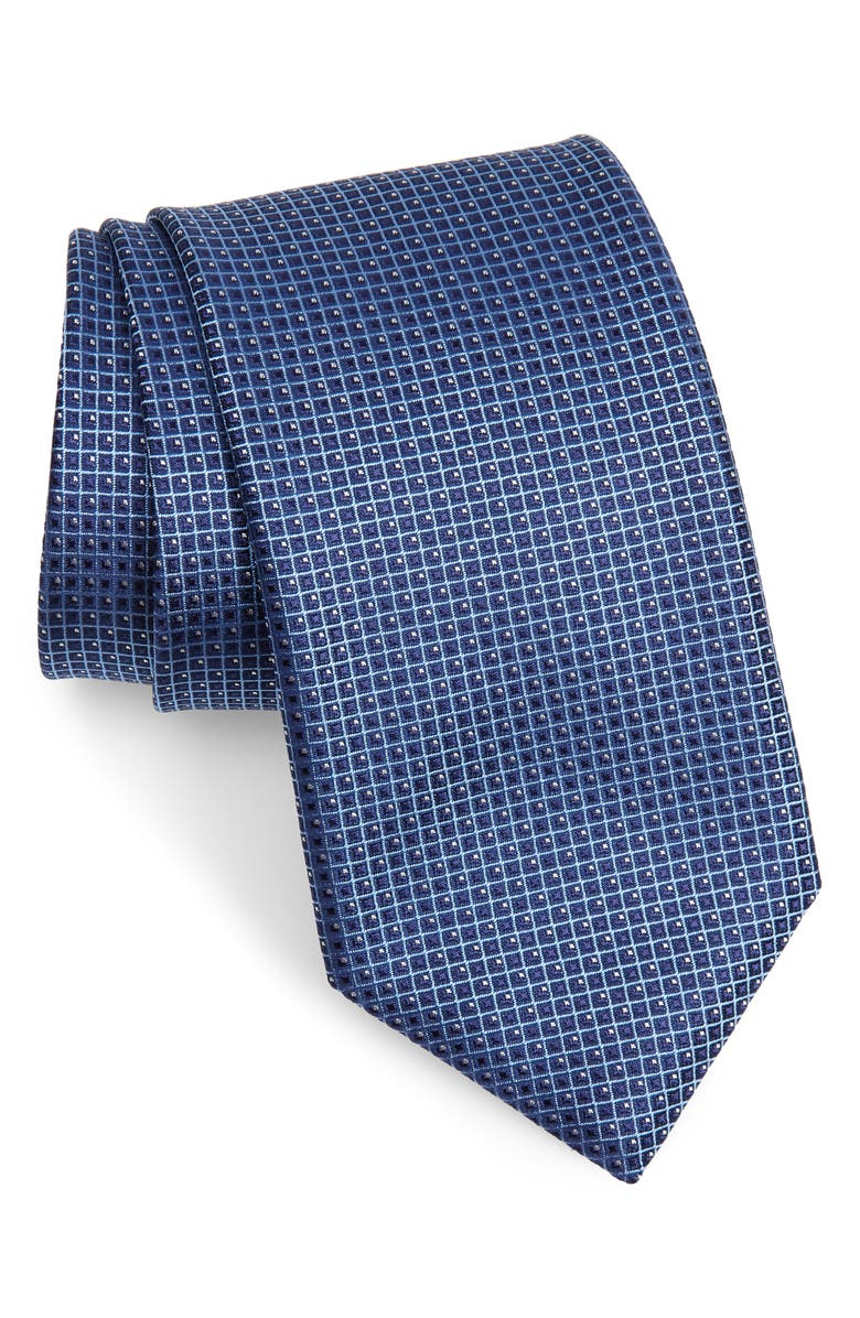 CANALI Check Silk X-Long Tie, Main, color, 400