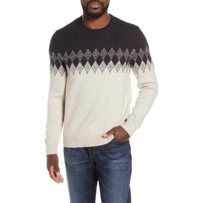 Bonobos Diamond Fair Isle Crewneck Sweater, Black