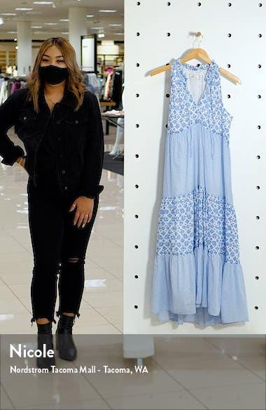 Diamond Print Halter Midi Dress, sales video thumbnail