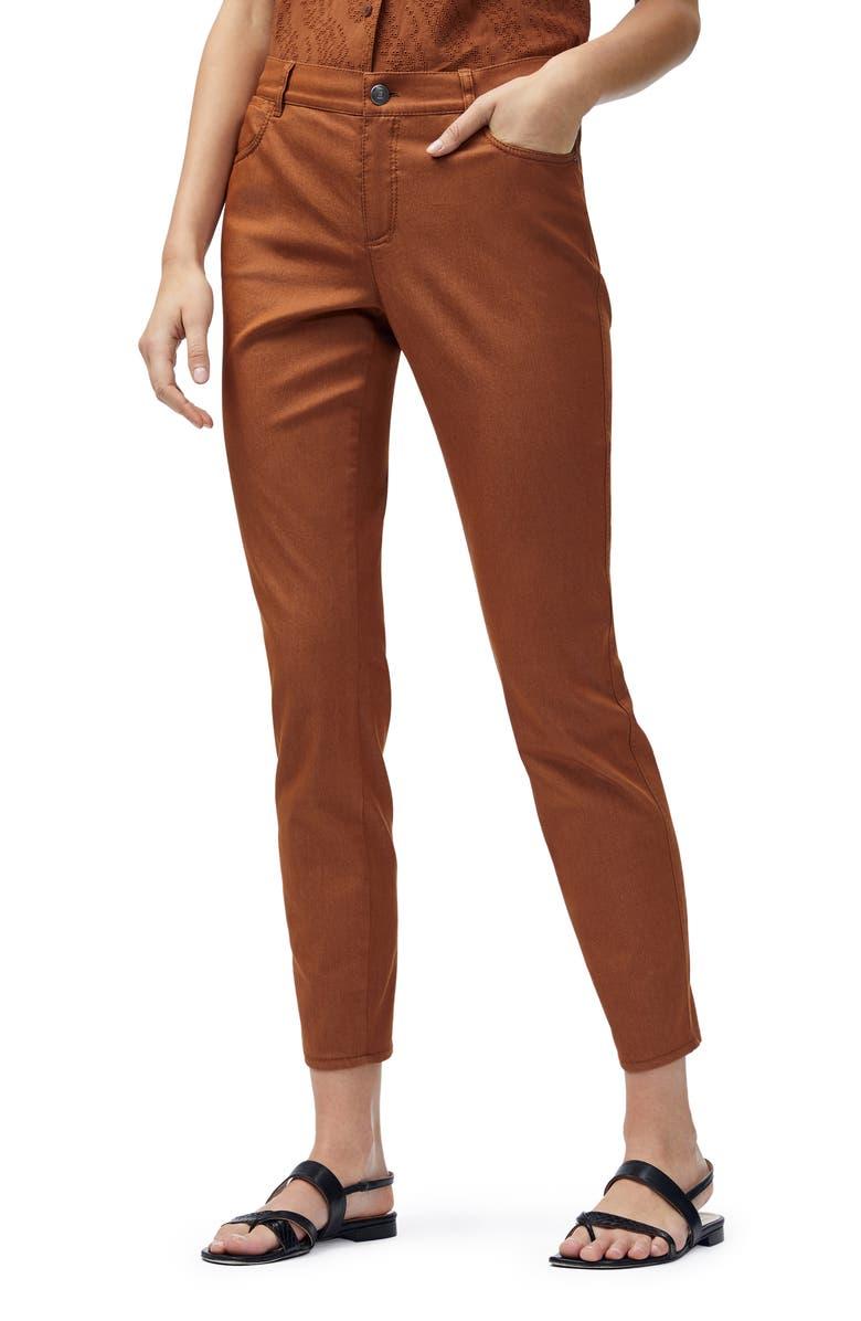 LAFAYETTE 148 NEW YORK Mercer Skinny Jeans, Main, color, SPICE